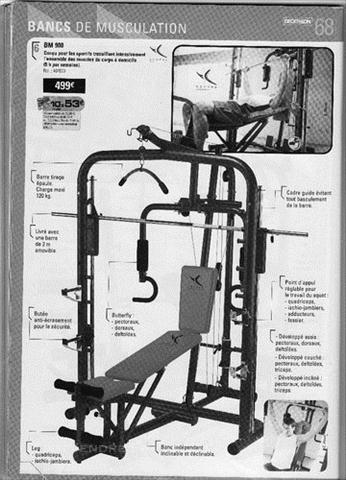 Banc De Musculation Bm 900