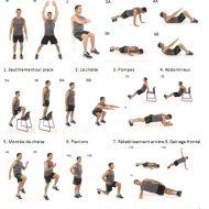 Exercice de musculation à la maison