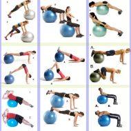 Exercice musculation avec ballon