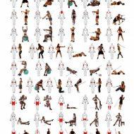 Exercice musculation avec elastique