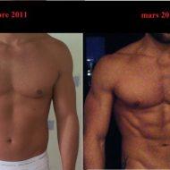 Musculation avant apres