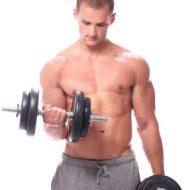Musculation biceps haltere