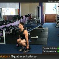Musculation jambes halteres