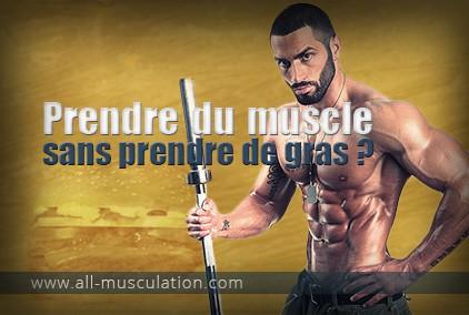prise de muscle sans gras