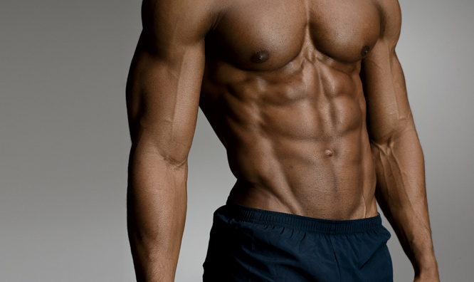 six pack muscles