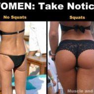 Squat musculation fessier